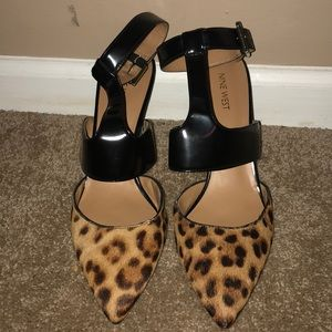 Nine West Cheetah w/ Ankle Strap Shoes
